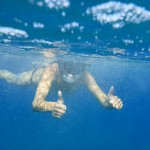 Conni under water