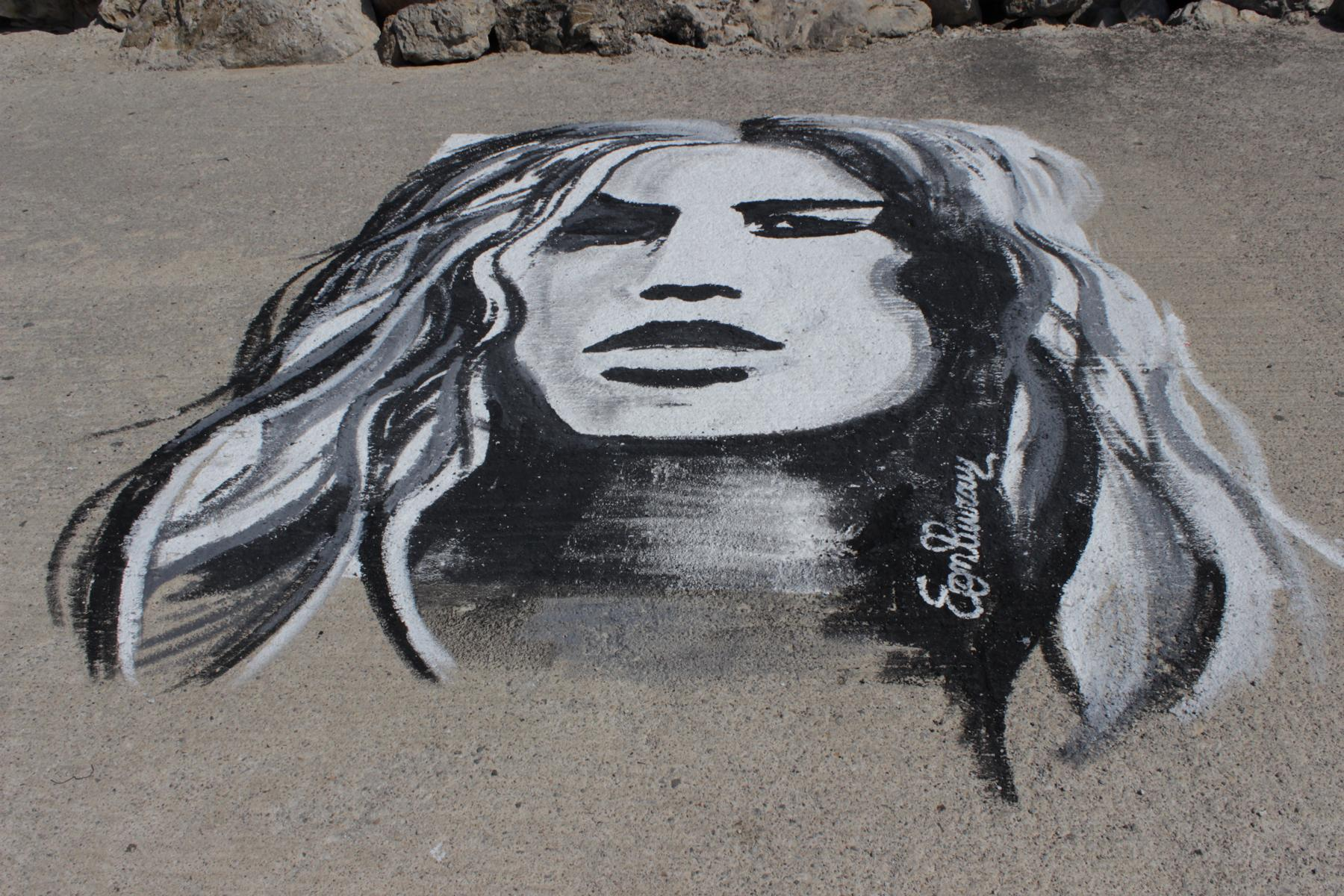 Efi Fiotaki painting face 2